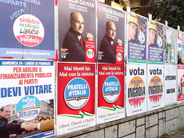 just some of the 40o Italian politcal parties in the 2013 election